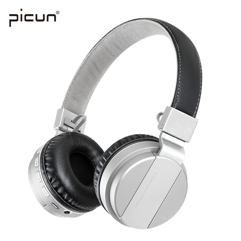 Picun P2 Stereo Headsets Wireless Bluetooth Headphones with Mic Support TF Card Micro-SD Card FM Radio for iPhone Samsung xiaomi wireless headphones bluetooth headset 4 in 1 earphone earbuds with mic micro sd tf fm radio for iphone 7 6s ipad android device