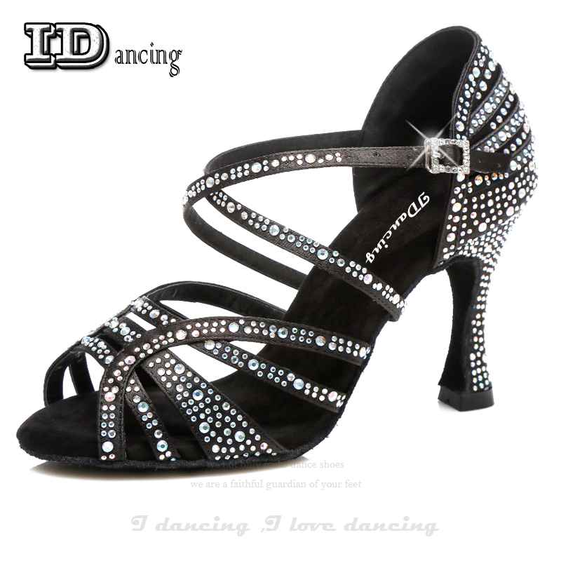 Detail Feedback Questions about Jazz Shoes Dance Latin Dancing Rhinestone Salsa  Latin Shoes Sneakers Dance Shoes Black Full Diamond Dance Shoes IDancing on  ... a30341796c4e