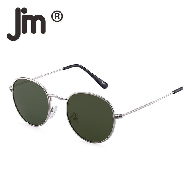 1201dfadf4 JM Polarized Small Round Sunglasses Retro Mirror Circle Lens Metal Frame  Men Women Oculos Gafas De Sol Vintage Oval Sun Glasses