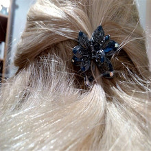 Fashion Big Flower Hair Clips Women Hair Jewelry Vintage Metal Crab Clip Hair Claws For Gilrs Gifts Wedding Hair Accessories handmade fashion jewelry claws natural stone hair jewelry metal hair clip for women girls vintage chinese style accessories hai
