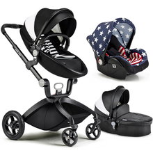2017 New Brand High Landscape Folding Baby Stroller 3 in 1 standard stroller separate sleeping basket