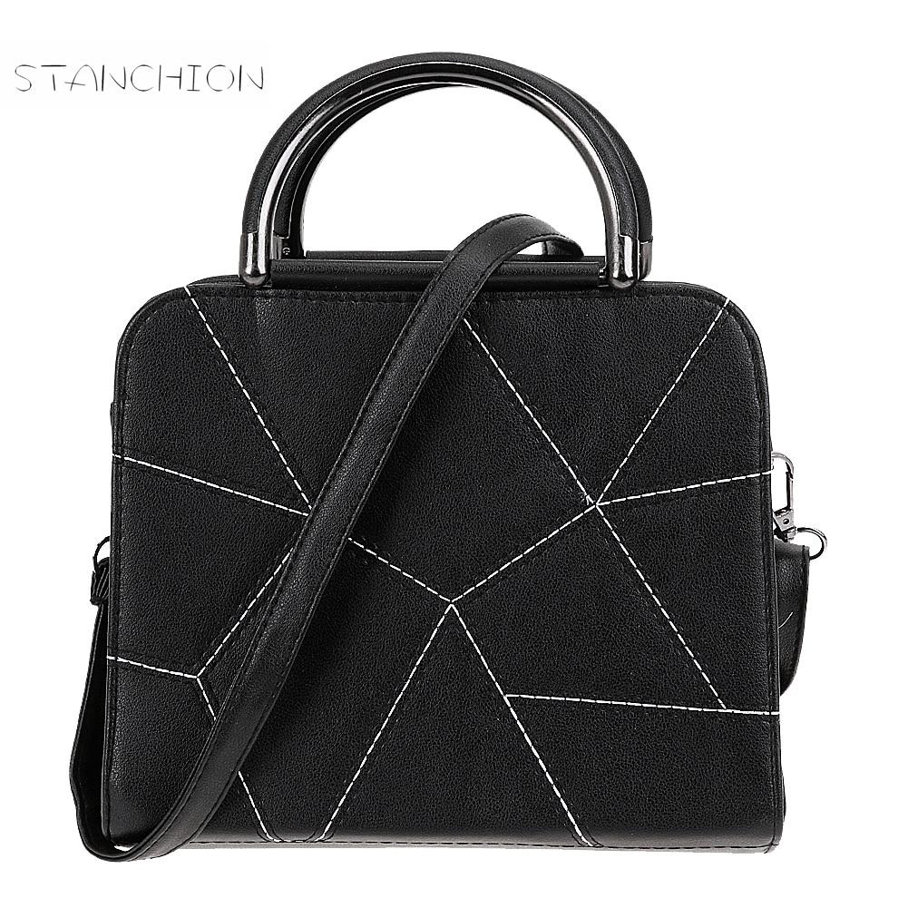Women PU Leather Handbag Fashion Tote Vintage Casual Shoulder Crossbody Bag Ladi