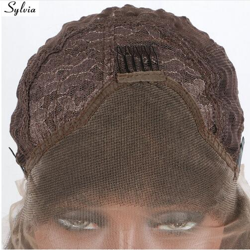 Sylvia T1b/brown ombre micro braiding synthetic lace front wigs braided box braids heat resistant fiber hair for black woman