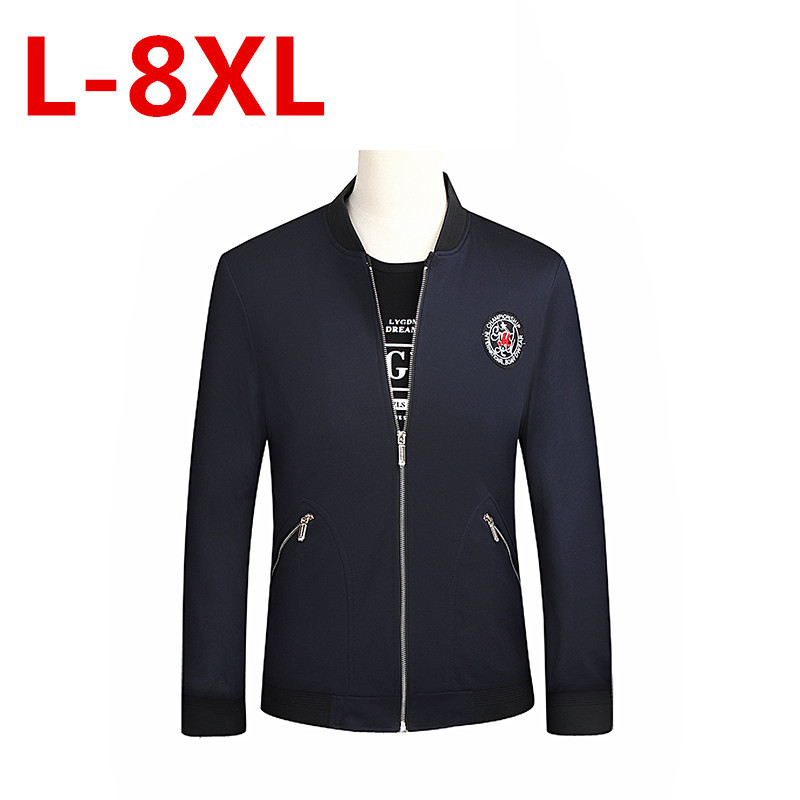 2017 big size New Styles Men Jacket Collar Zipper Business Casual Cozy Coats And Jackets Big Size 7XL 6XL 5XL 4XL 3XL