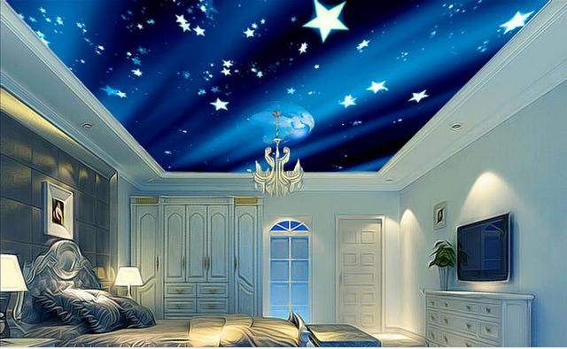 ceiling murals wallpaper customized 3d ceiling wallpapers for bedroom  Creative Earth stars wallpaper mural 3d ceiling. Aliexpress com   Buy ceiling murals wallpaper customized 3d