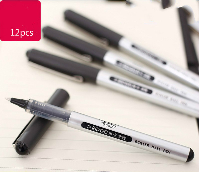 Deli Stationery Direct Liquid Type Neutral Pen 0 5mm Writing Smooth Office Supplies 12pcs