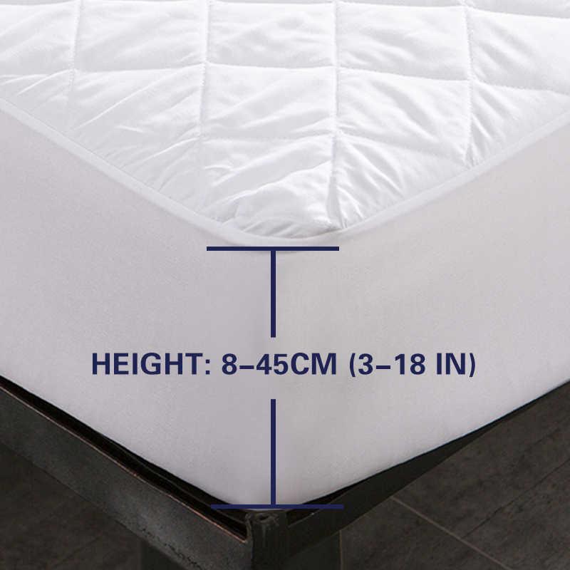 Bed Cover Brushed Fabric Berlapis Pelindung Kasur Tahan Air Cm untuk Tempat Tidur Anti Kutu Kasur Penutup Copri Jaringan Tempat Tidur