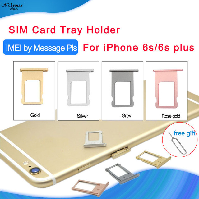 US $1 8  Support Customize IMEI Number Nano SIM Card Tray Holder For iPhone  6s 6s Plus SIM Holder Slot Tray Container Adapter Replacement-in SIM Card