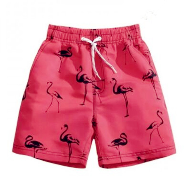 Pink Flamingo Men's swimming beach   shorts   men   board     shorts   swim trunk pants Quick-drying movement surf   shorts   Swimwear for Male