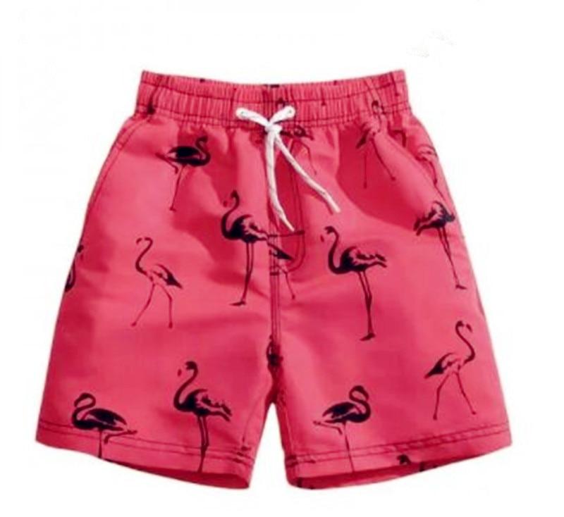 Pink Flamingo Men's swimming beach   shorts   men   board     shorts   swim trunk pants Quick-drying movement surf   shorts   Swimwear for Male
