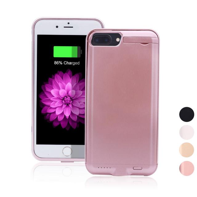 """5000 mah ultra-fino banco de potência de backup inteligente capa para iphone 6 6 s para iphone7 plus 5.5 """"Carga da bateria Caso Com Suporte Rígido PC"""