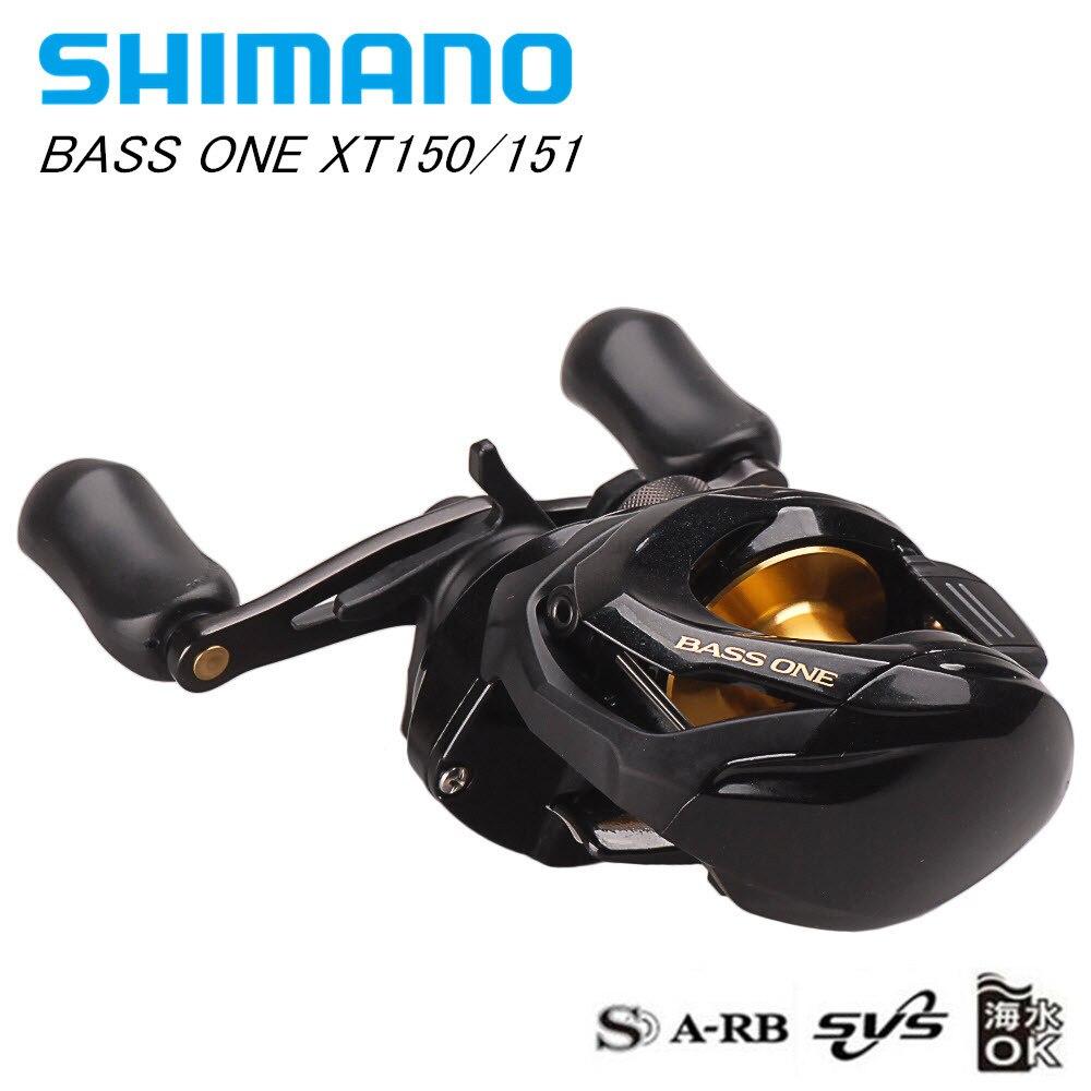 SHIMANO BASS ONE XT150 151 R/L Baitcasting Fishing Reel 7.2:1/4+1BB/5kg SVS Syetem Carretilha Moulinet Peche Baitcast Round Coil curado 200hgk