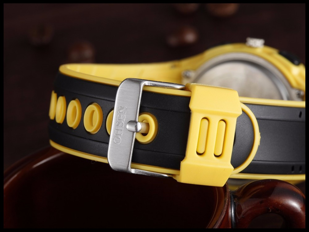 Original Ohsen Brand Fashion Sports Men's Watches 30M Waterproof Rubber Black Rubber Band Digital Sport Wristwatch for Men Gift (29)