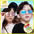 2017 limitada cr-39 muchachos niños oval acero inoxidable para lemonkid 17 new corea del sur de los niños gafas de sol uv400 anti