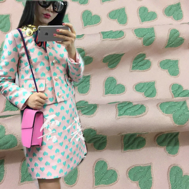 Dress Brocade Jacquard Fabric Autumn And Spring Women Suits Tissue