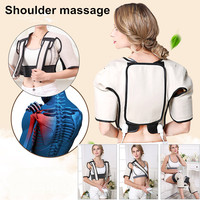 Best Gift! 2019 New Heating vibration shawl tapping shoulder neck cervical spine heating kneading belt pain relieve back support