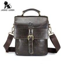Genuine Leather Crossbody Bags For Men By LAOSHIZI LUOSEN