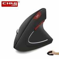 CHYI Vertical Ergonômico Sem Fio Do Rato Do Computador 1600DPI Red Botão 6D Gamer Mause Óptico LED Retroiluminado Usb Gaming Mouse Para laptop