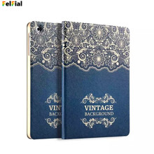 Купить с кэшбэком For Apple iPad Air 2 case PU Leather Back Cover Case Foldable Colored Drawing Smart Protective Cover for iPad 6