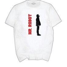 Los hombres de impresión genio señor Robot Fsociety Camiseta de cuello de  manga corta de verano 5f826eae7a1
