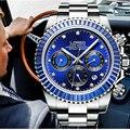Роскошные мужские часы  водонепроницаемые  автоматические  механические  деловые  50 м