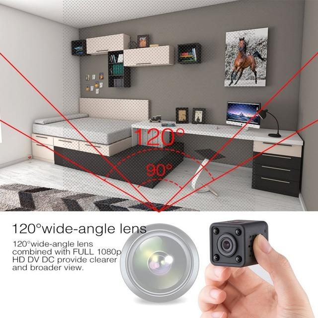 Mini WiFi camera 1080P HD Remote playback video small micro cam Motion Detection Night Vision Home Monitor 64G mini camcorder