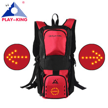 New remote LED turn signal backpack outdoor cycling waterproof warning light mountain men women bicycle safety riding 28L 2017