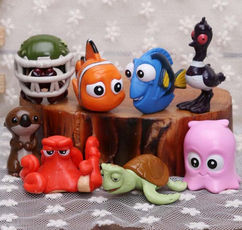 8pcs/set PVC 4cm Movie Finding Dory Fish Clownfish Nemo Action Figure Model Toys Gift
