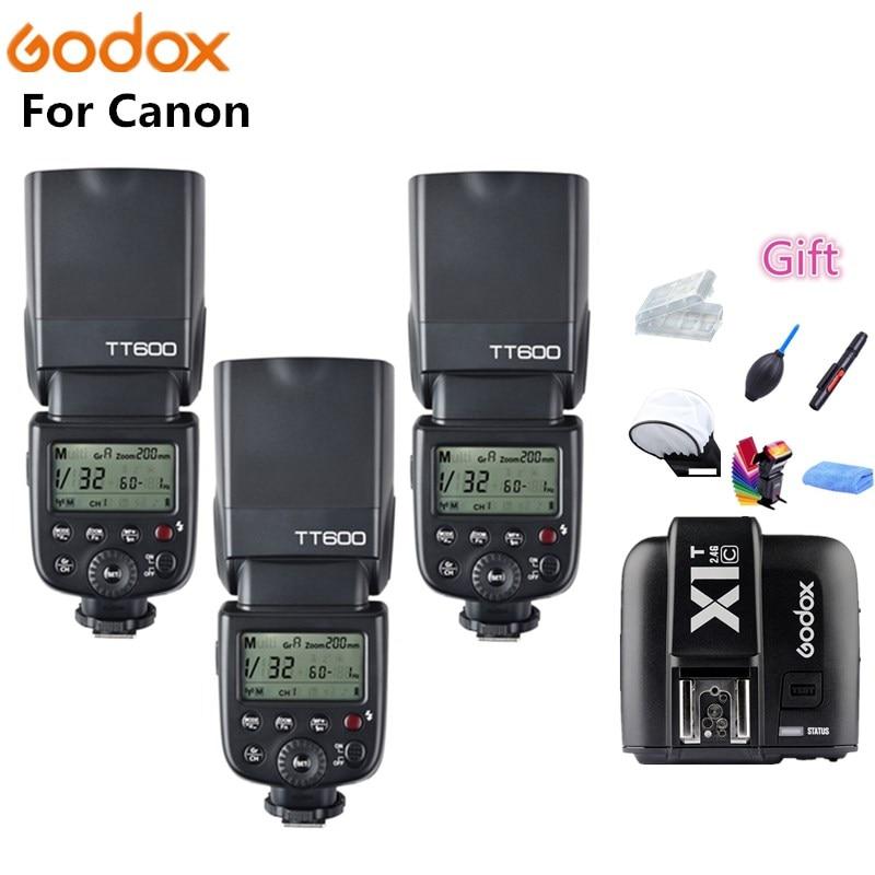 Godox TT600 X1T C Camera Flash Speedlite 2 4G Wireless Master Slave HSS for Canon EOS