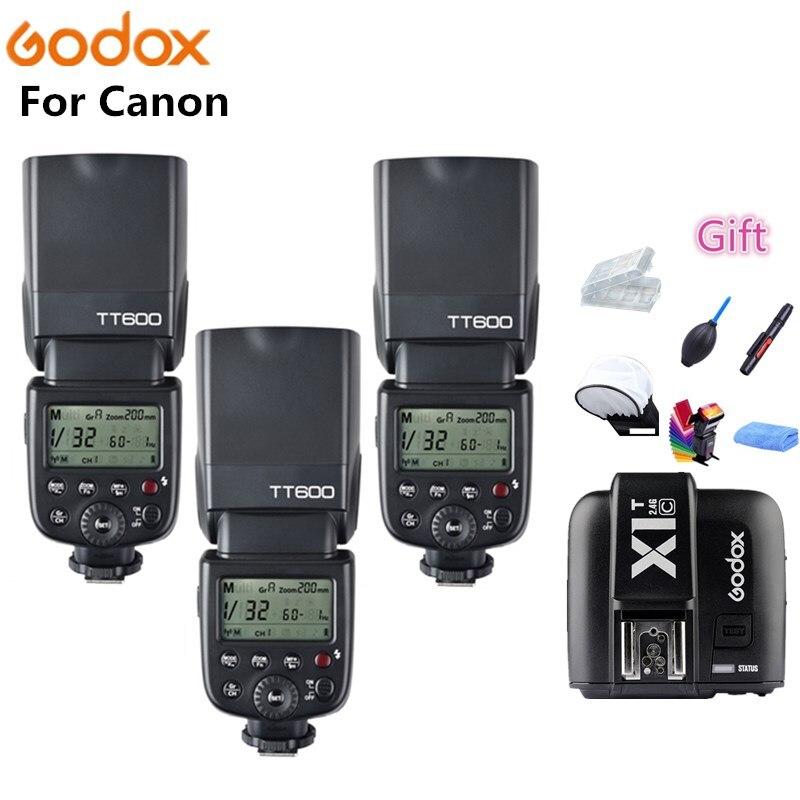 Godox TT600 X1T-C Caméra Flash Speedlite 2.4G Sans Fil Maître Esclave HSS pour Canon EOS 5D 6D 7D 70D 700D 80D 800D 60D 600D