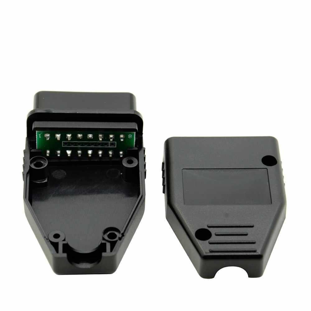 Obd2 obdii eobd jobd odb odb2 odbii eobd2 obd11 odb11 j1962 macho conector adaptador de plugue wiringobd2 16pin conector frete grátis