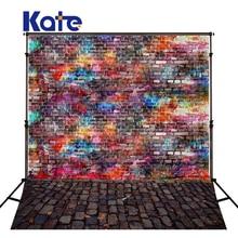 Kate фото фон новорожденный фон винтажный абстрактный граффити кирпичная стена фон цветная текстура пол фон для студии