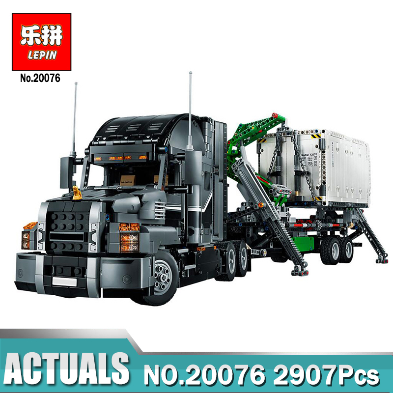 Lepin 20076 Technic Series the Mack Big Truck Set Compatible Legoing 42078 Building Blocks Bricks Educational Children Toys lepin 20076 technic series genuine the