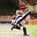 2016 Mais Recente Ins Outono Inverno Crianças Xadrez Poncho Crianças Meninas Do Bebê Tricô Poncho Europeu & American estilete Casacos poncho infantil