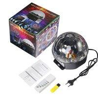 Icoco mp3 ledマジッククリスタルボールライト動的液体空アニメーション移動ステージライト用パブktvクラブパーティー調整可能