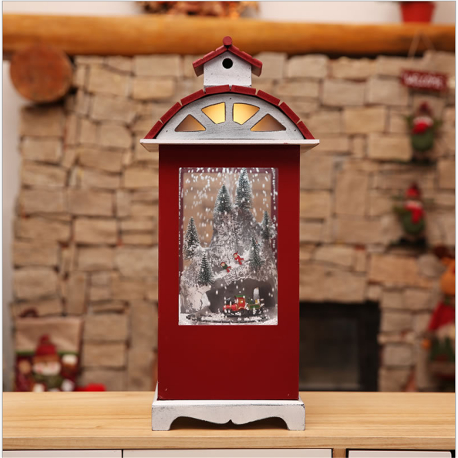 New Round Christmas Lights Snow Globe Music Box Merry Christmas Decoration For Home Outdoor