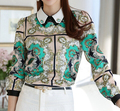 Vintage Blusa Women Tops Blusas Femininas 2016 Chemise Femme Tops Plus Size Printing Fancy Blouses Ropa Mujer Blouse
