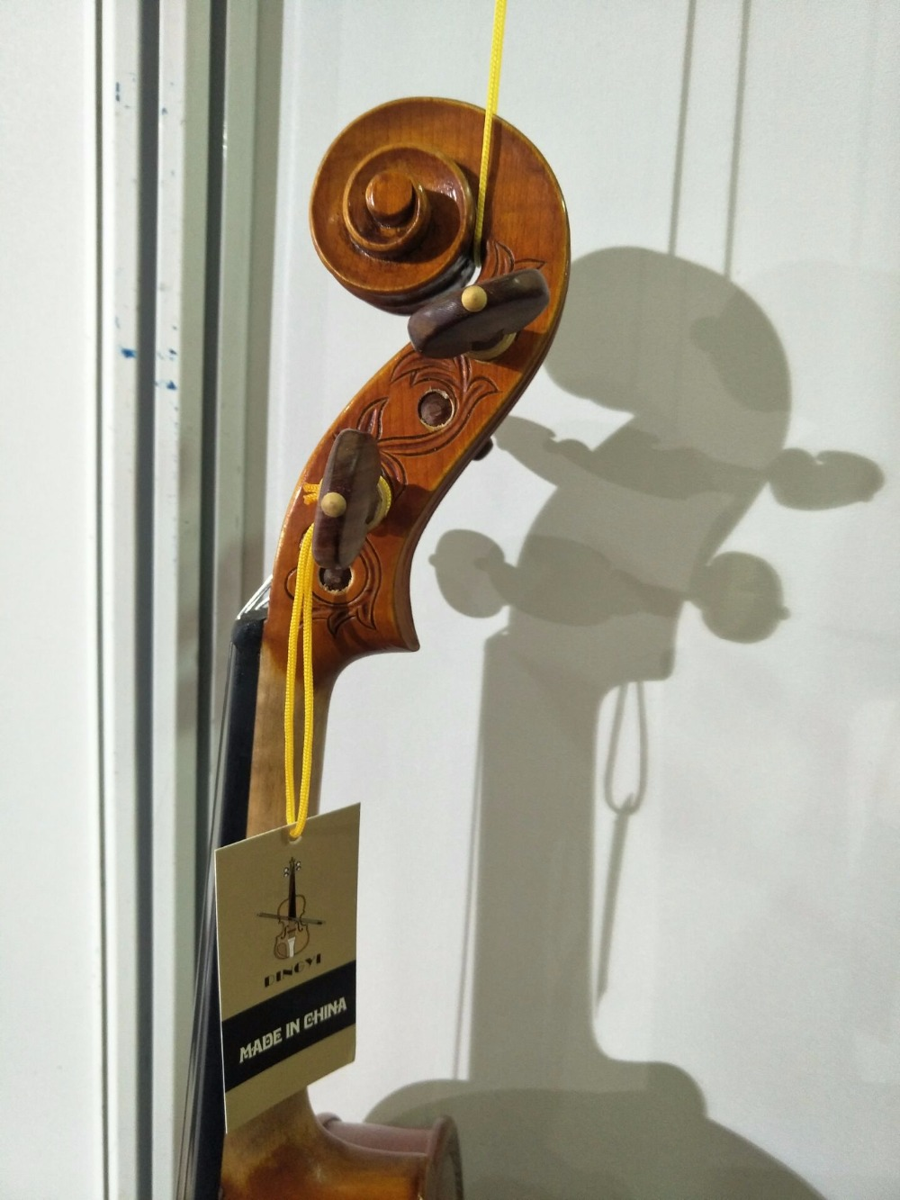 hand made Nice violin. maple back violin+bow + rectangle case+rosin