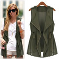 2016 Summer Plus size clothing chiffon vest medium-length fashion casual vest thin plus size plus size waistcoat outerwear