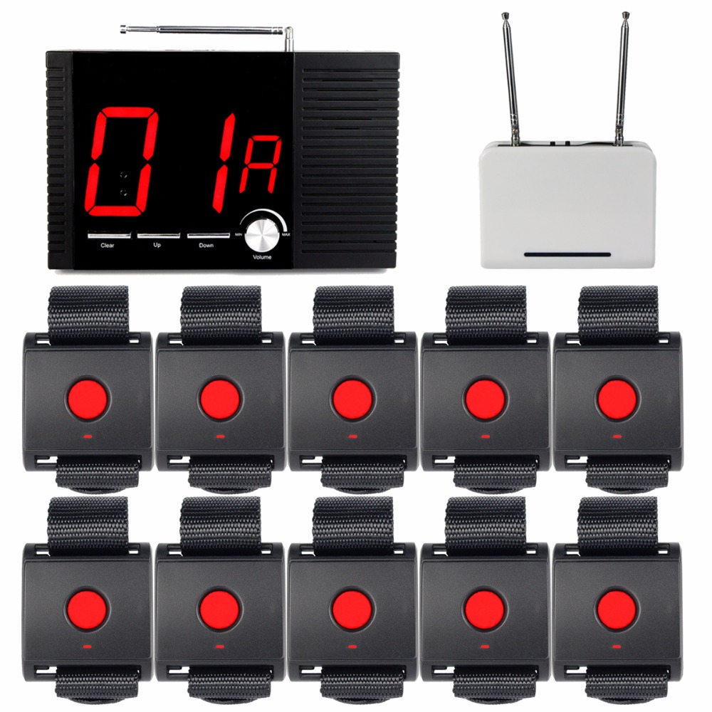 99 Channel Wireless Hotel Voice Reporting Broadcast Calling System 1 Receiver Host + 1 Signal Repeater +10 Call Button F4403A restaurant pager wireless calling system 1pcs receiver host 4pcs watch receiver 1pcs signal repeater 42pcs call button f3285c