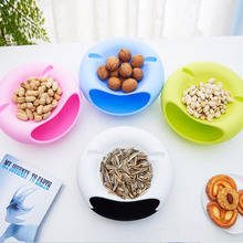 New Creative Double Layer Tray Candy Snacks Containers Dry Fruit Melon Seeds Storage Trays Box Plate Dish Box With Phone Holder