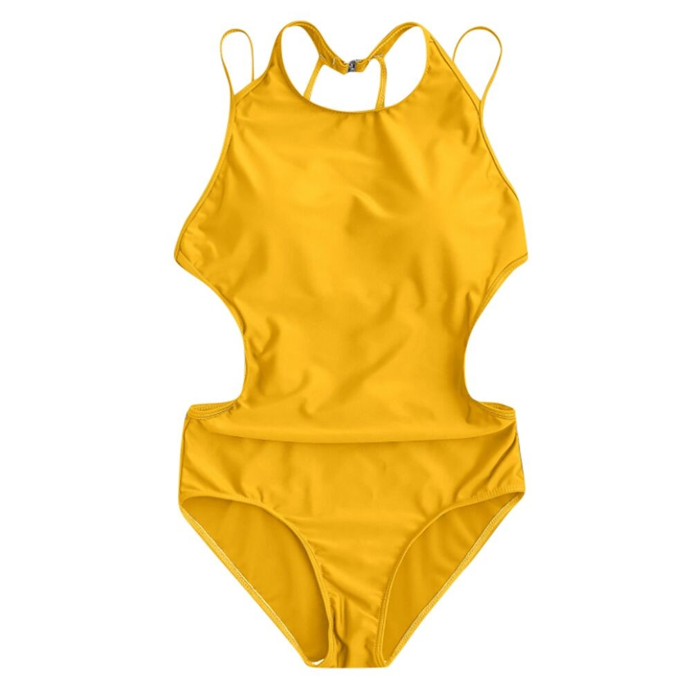 <font><b>One</b></font> <font><b>Piece</b></font> <font><b>Swimsuit</b></font> <font><b>2018</b></font> <font><b>Sexy</b></font> <font><b>Swimwear</b></font> <font><b>Women</b></font> Bathing Suit Swim Vintage Summer Beach Wear Print Bandage Monokini <font><b>Swimsuit</b></font> image