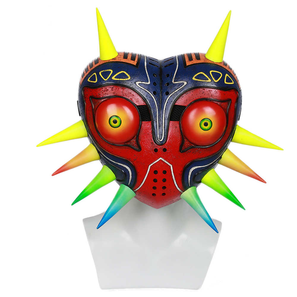 X-COSTUME The Legend of Zelda Majora Mask Game Cosplay Masks Stylish Painted Party Mask Halloween Festival Cosplay Accessory