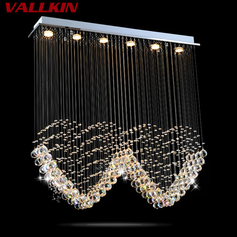 Čtvercové LED stropní lustry lampy křišťálové závěsné - Vnitřní osvětlení