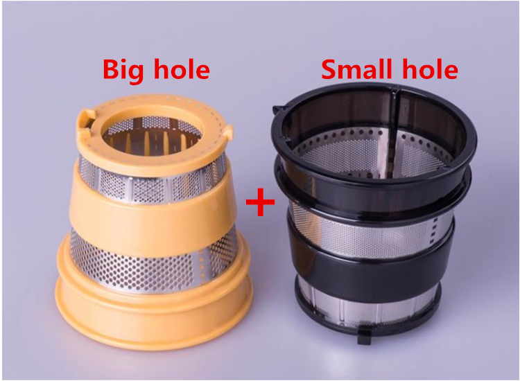 2/lot slow juicer hurom blender spare parts,Filter net of juice extractor Small hole Black+yellow(rough hole)HU-500DG,HU-100PLUS