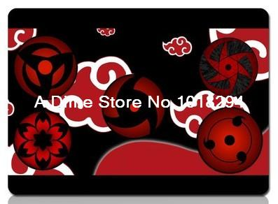 Naruto mouse pad Uchiha Writing the wheel eye mousepad laptop anime mouse pad gear notbook computer gaming mouse pad gamer