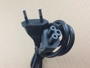 Alta qualidade 1.2 m 3 prong ue europeu americano eua plug portátil ac cabo de alimentação adaptador carregador plum blossom cauda cabo