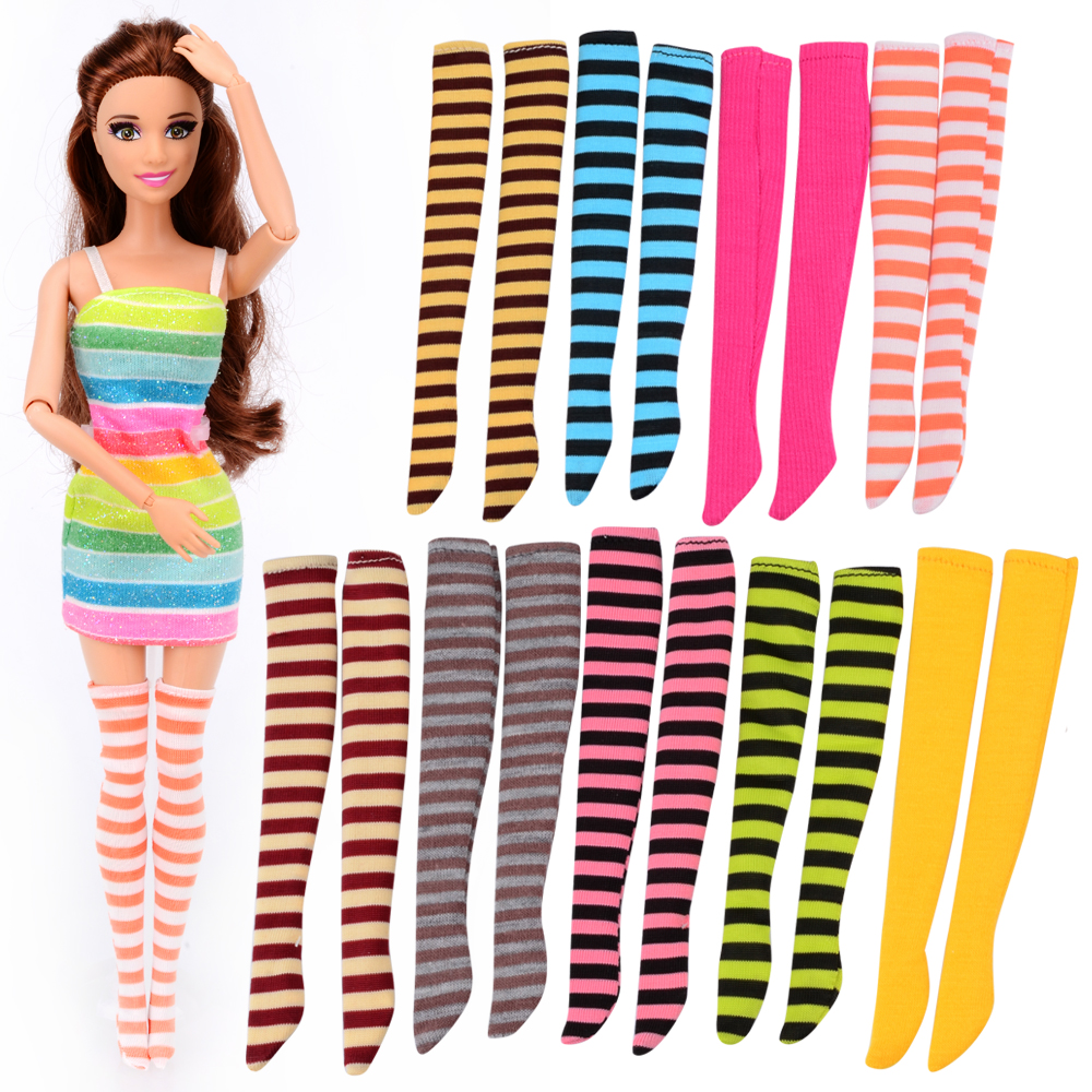 3 Pcs Random Socks/Stockings Accessories for Barbie Doll 12 Joint Moving Toy Birthday Gift for Girl женские чулки no womens stockings