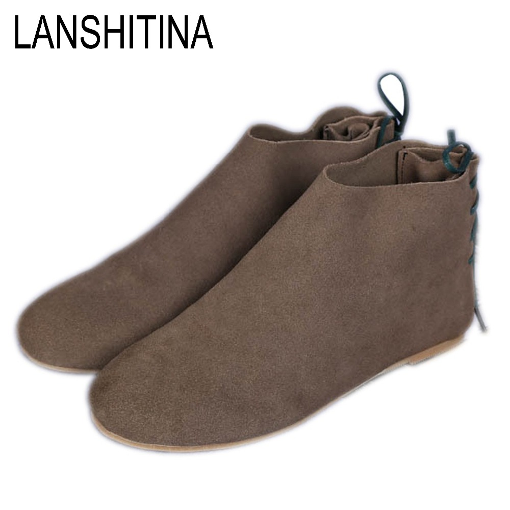 Online Get Cheap Flat Black Ankle Boots -Aliexpress.com | Alibaba ...