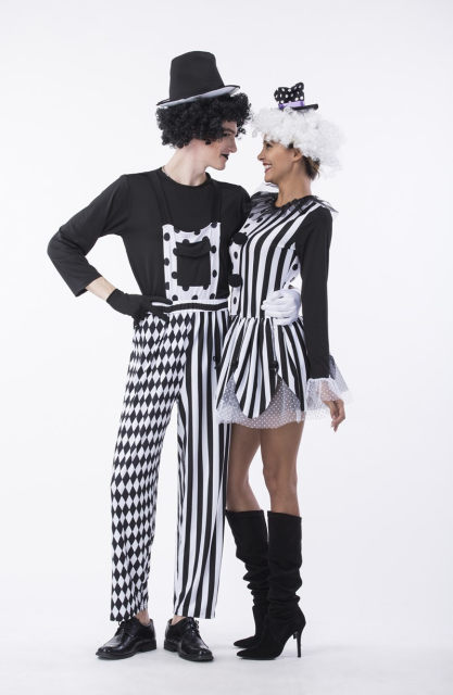 Man Women Black White Plaid Funny Clown Circus Costume Sexy Jokester Jumpsuit Playful Jester Costume Fantasia Fancy Dress  sc 1 st  Aliexpress & Online Shop Man Women Black White Plaid Funny Clown Circus Costume ...